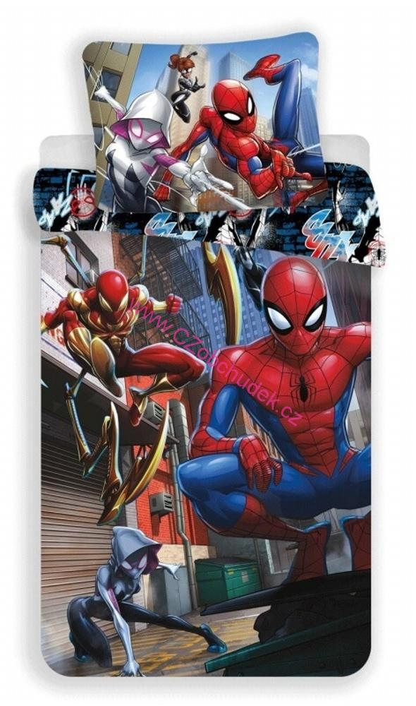Jerry Fabrics Povlečení Spiderman Action 140x200, 70x90 cm