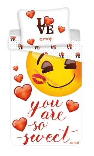 "Jerry Fabrics Povlečení Emoji ""You are so sweet"" 140x200, 70x90 cm"